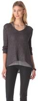 Helmut Lang Helmut Tucked Linen Asymmetrical Pullover