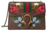 Gucci Medium Dionysus Embroidered Leather Shoulder Bag - Grey