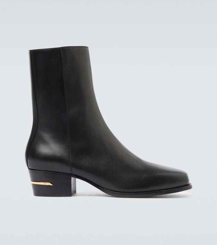 Amiri Leather squared toe boot