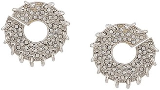 Chloé Crystal Embellished Round Earrings