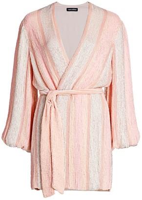 retrofete Gabrielle Sewn Sequin Wrap Dress
