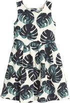 H&M Patterned Dress - White/leaf - Kids