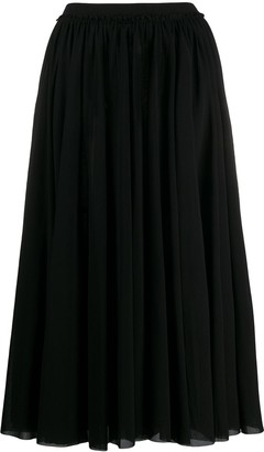 Jil Sander Pleated Maxi Skirt