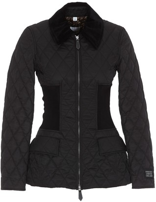Burberry Quilted Cinch-Waist Jacket