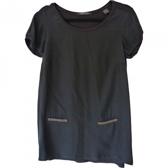 Maison Scotch Black Silk Top for Women