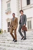 Mens Next Tan Skinny Fit Cotton Blend Suit: Jacket