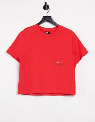 Nike Swoosh oversized t-shirt in red