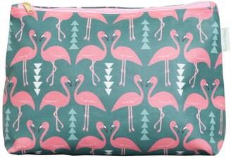 Flamingo Flourish Wash Bag Mint