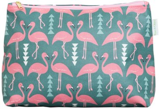 Rosa & Clara Designs Flamingo Flourish Wash Bag Mint
