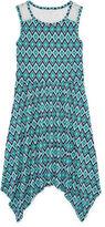 Arizona Sleeveless Lace-Yoke Handkerchief-Hem Skater Dress - Girls 7-16 and Plus
