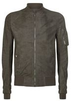 Rick Owens Blistered Leather Bomber Jacket