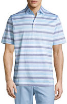 Peter Millar Johnson Striped Cotton Lisle Polo Shirt