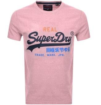Superdry Vintage Logo T Shirt Pink