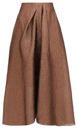 Roland Mouret Mulligan Lame-cloque Skirt - Copper