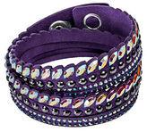 Swarovski Slake Pulse Navette Crystal Studded Wrap Bracelet