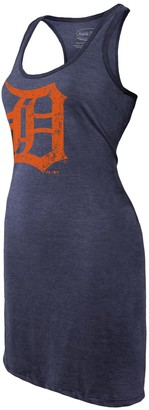 Majestic Women's Threads Navy Detroit Tigers Tri-Blend Racerback Sleeveless Dress