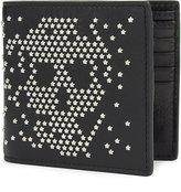 Alexander Mcqueen Star Studded Leather Billfold Wallet