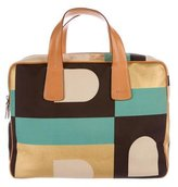 Bally Leather-Trimmed Colorblock Satchel