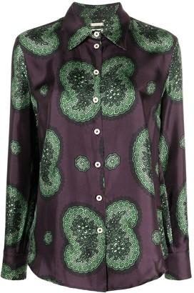 Massimo Alba Floral Paisley Pattern Shirt