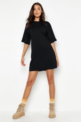 boohoo Tall Cotton Oversized T Shirt Dress