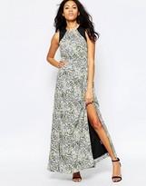 Sugarhill Boutique Lottie Smudge Print Maxi Dress