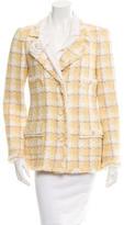 Chanel Tweed Camellia Embellished Jacket