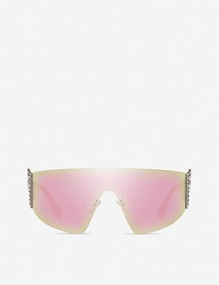 Fendi FF0382 metal and acetate wraparound sunglasses