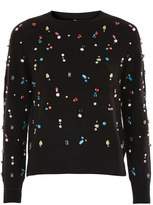 Topshop Christmas Jewelled Jumper
