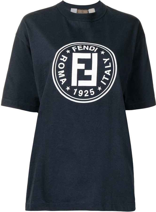 Thumbnail for your product : Fendi Pre-Owned vintage logo print T-shirt