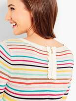 Talbots Rainbow Stripes Sweater