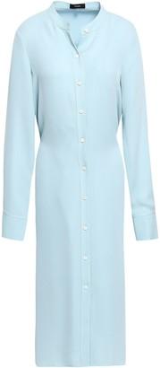 Theory Silk Crepe De Chine Shirt Dress