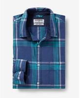 Express soft wash small plaid shirt