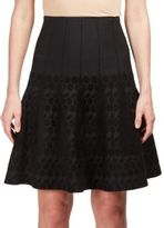 Roland Mouret Embroidered Pull-On Skirt