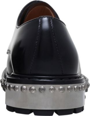 Alexander McQueen Hobnail leather Derby shoes