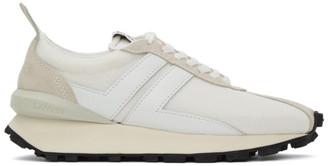 Lanvin White Mesh Bumper Sneakers