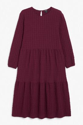 Monki Textured maxi dress