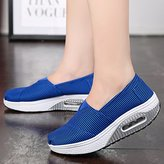BG US Size 5- Rocker Sole Shoes Women Slip On Sport Casual Running Canvas Shoes stripe shoes