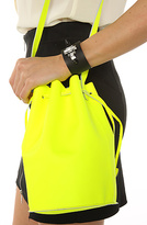 The Leather Purse in Neon