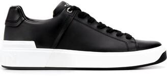 Balmain Rubber Logo Detail Low-Top Sneakers