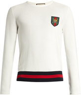 Gucci Badge-appliqué cotton sweater