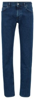 HUGO BOSS Regular Fit Jeans In Bci Cotton Stretch Denim - Dark Blue