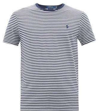 Polo Ralph Lauren Logo-embroidered Striped Cotton T-shirt - Mens - Navy