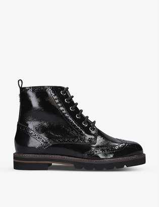 Carvela Shock patent leather ankle boots