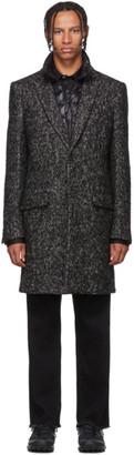 Mackage Black and White Tweed Skai Coat