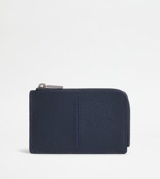 Tod's Credit Card Holder with Zip in Leather
