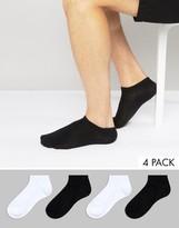 Jack and Jones 4 Pack Sneaker Socks