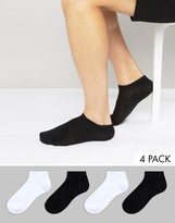 Jack & Jones 4 Pack Trainer Socks