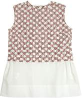 Marni Junior Cotton Jersey And Poplin Top