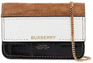 Burberry JODY MIXED STRIPE LEATHER WALLET CHAIN