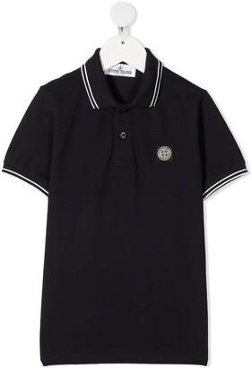 Stone Island Junior Embroidered-Logo Polo Shirt